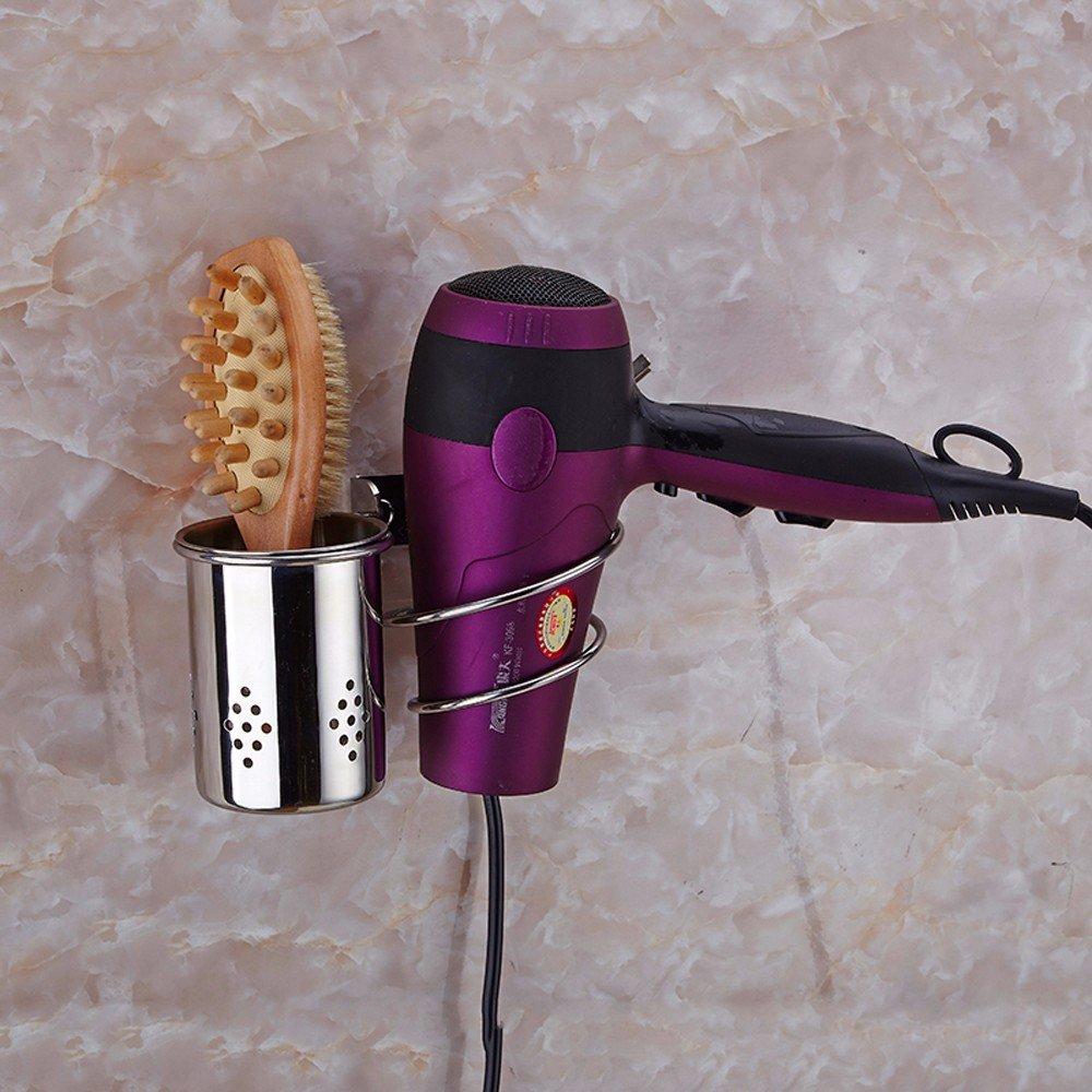 OLQMY-Bathroom Hairdryer Rack, Stainless Steel Punching Toilet, Air Blower Rack
