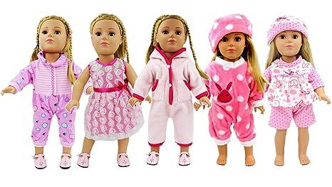 02fe0414f Amazon.com  AOFUL 5 Lots Bitty Baby Doll Dress Clothes
