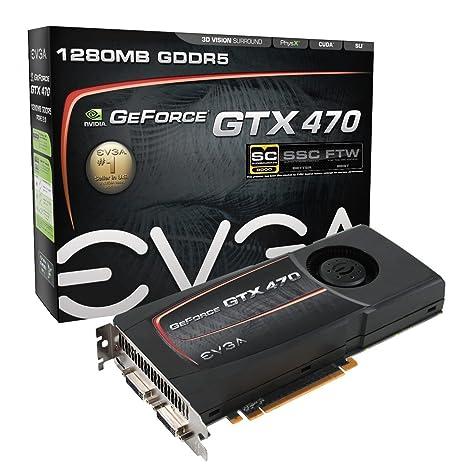 EVGA GeForce GTX470 Superclocked 1280 MB DDR5 PCI-Express 2 0 Graphics Card  012-P3-1472-AR