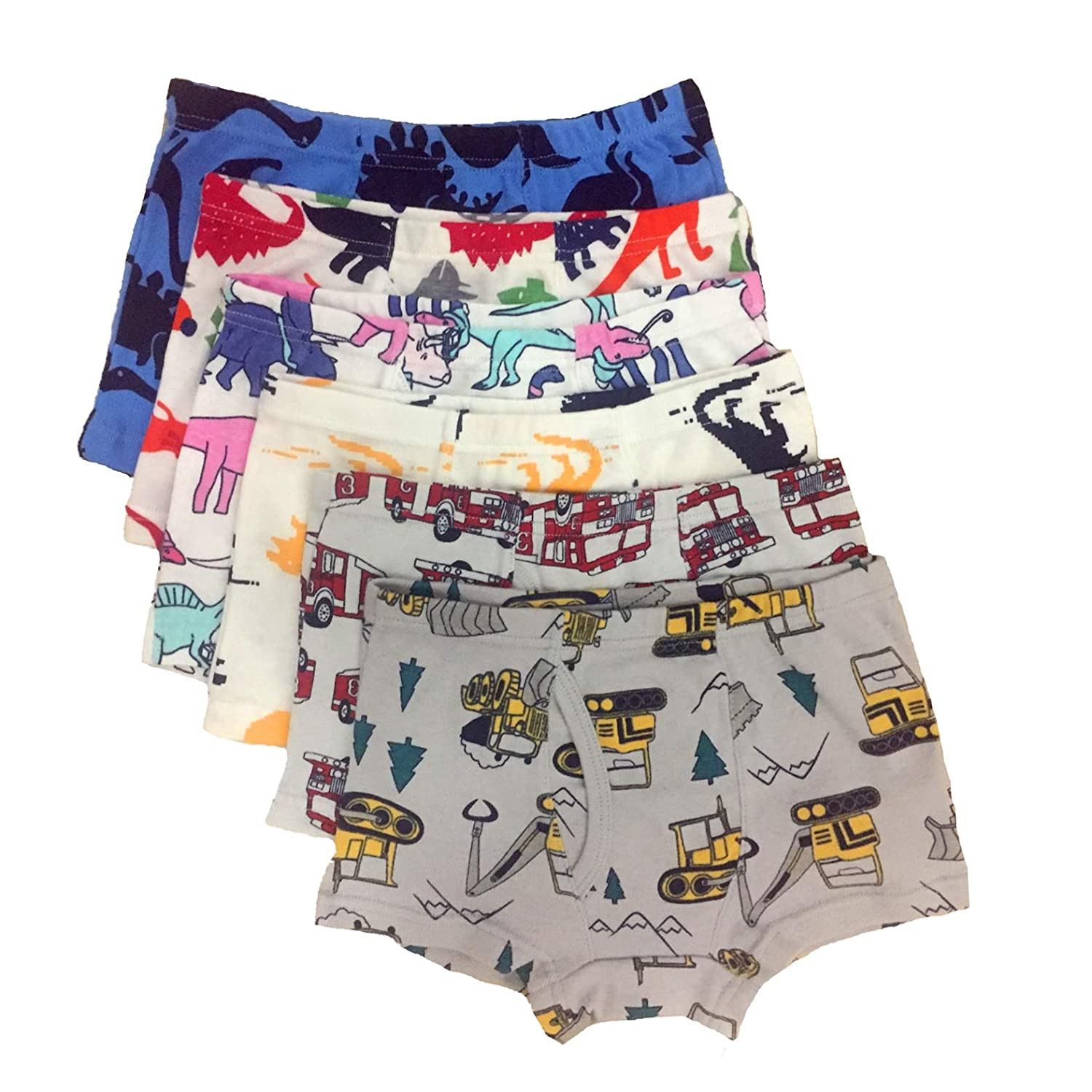 Cczmfeas Boys Boxer Briefs Cotton Comfort Dinosaur Underwear for Kids 6 Pack