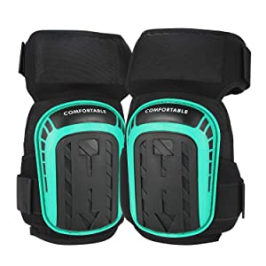 Gel Knee Pads for Work Construction, Gardening, Cleaning, Flooring and Garage - Heavy Duty Support Kneepads for Men with High Density Foam Padding Gel Cushion and Adjustable Straps
