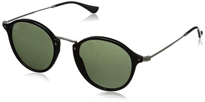 ef99a23f6352d Ray-Ban ACETATE MAN SUNGLASS - BLACK Frame GREEN Lenses 49mm Non-Polarized
