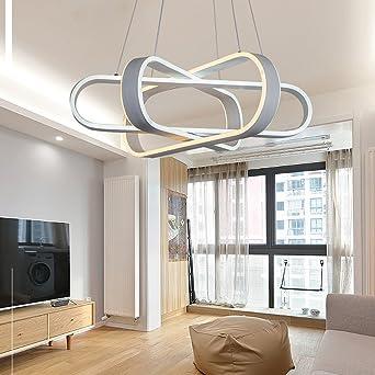 Modern Esstischlampe LED Angelschnur Kronleuchter Drei Ringe Design  Pendelleuchte Kreative Minimalistische Pendellampe Innenbeleuchtung  Pendellampe ...