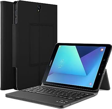 iBetter Galaxy Tab S3 9.7 Teclado Estuche ,Samsung Galaxy Tab S3 9.7 SM-T820 / T825 2017 [Teclado QWERTY] Wireless Keyboard Case Funda Ultra fino Slim ...