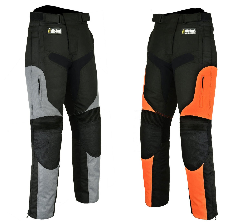 Hilbro Men's Motorcycle Motorbike Cordura Trousers Textile Waterproof Pants - All Sizes