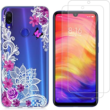 jrester Funda Xiaomi Redmi Note 7,Flor Diagonal Flexible Suave ...