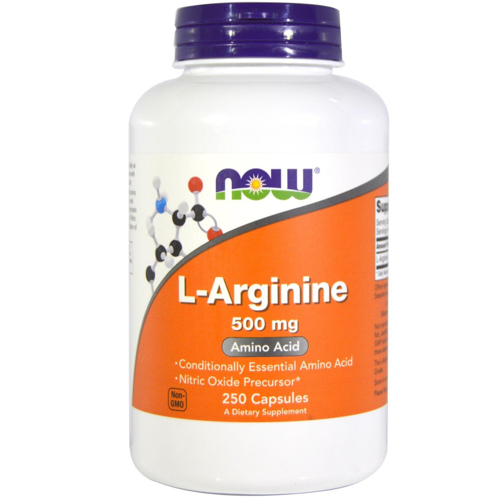 Now Foods L-Arginine 500 mg - 250 Caps 8 Pack