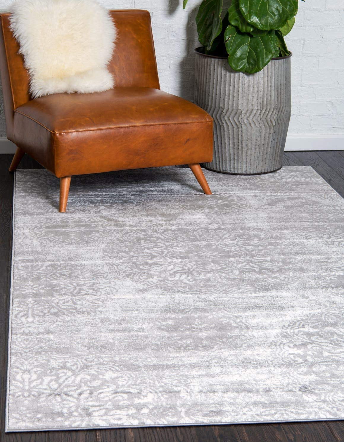 Unique Loom 3138677 Sofia Collection Traditional Vintage Beige Area Rug, 4 0 x 6 0 Rectangle, Gray