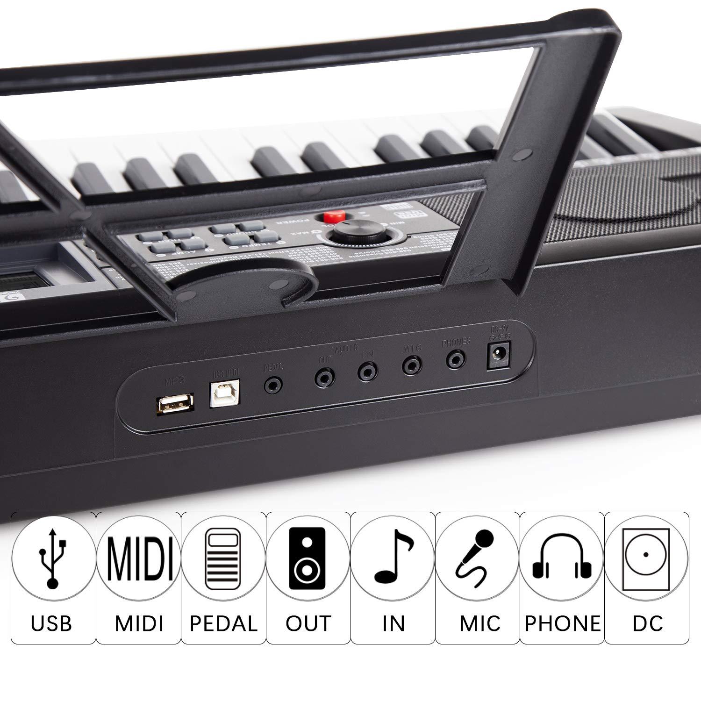 Electronic Piano Keyboard, 61 Light up Keys Portable with Smart LCD Display, 3 Teaching Mode, 40 Demo Songs, Piano Gig Bag by Vangoa (Image #3)