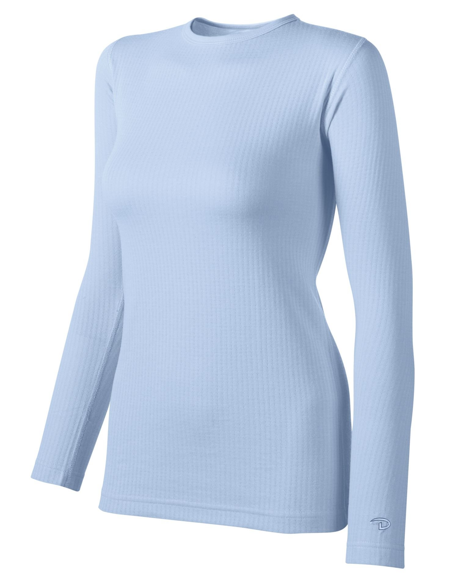 Duofold Women's Midweight Long Sleeve 2 Layer Crew With Moisture Wicking,Frost,Medium