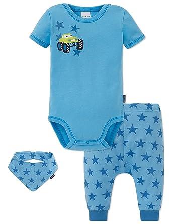 474cdf5a2813 Schiesser Baby Set, Ensemble Bonnet, écharpe et Gant Garçon (Lot de 3)   Amazon.fr  Vêtements et accessoires