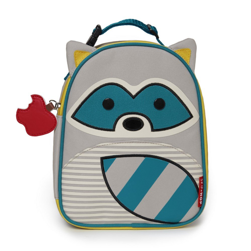 Skip Hop Baby Zoo Little Kid and Toddler Insulated and Water-Resistant Lunch Bag, Riggs Raccoon