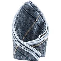 Tossido Grey Checkered Pocket Square