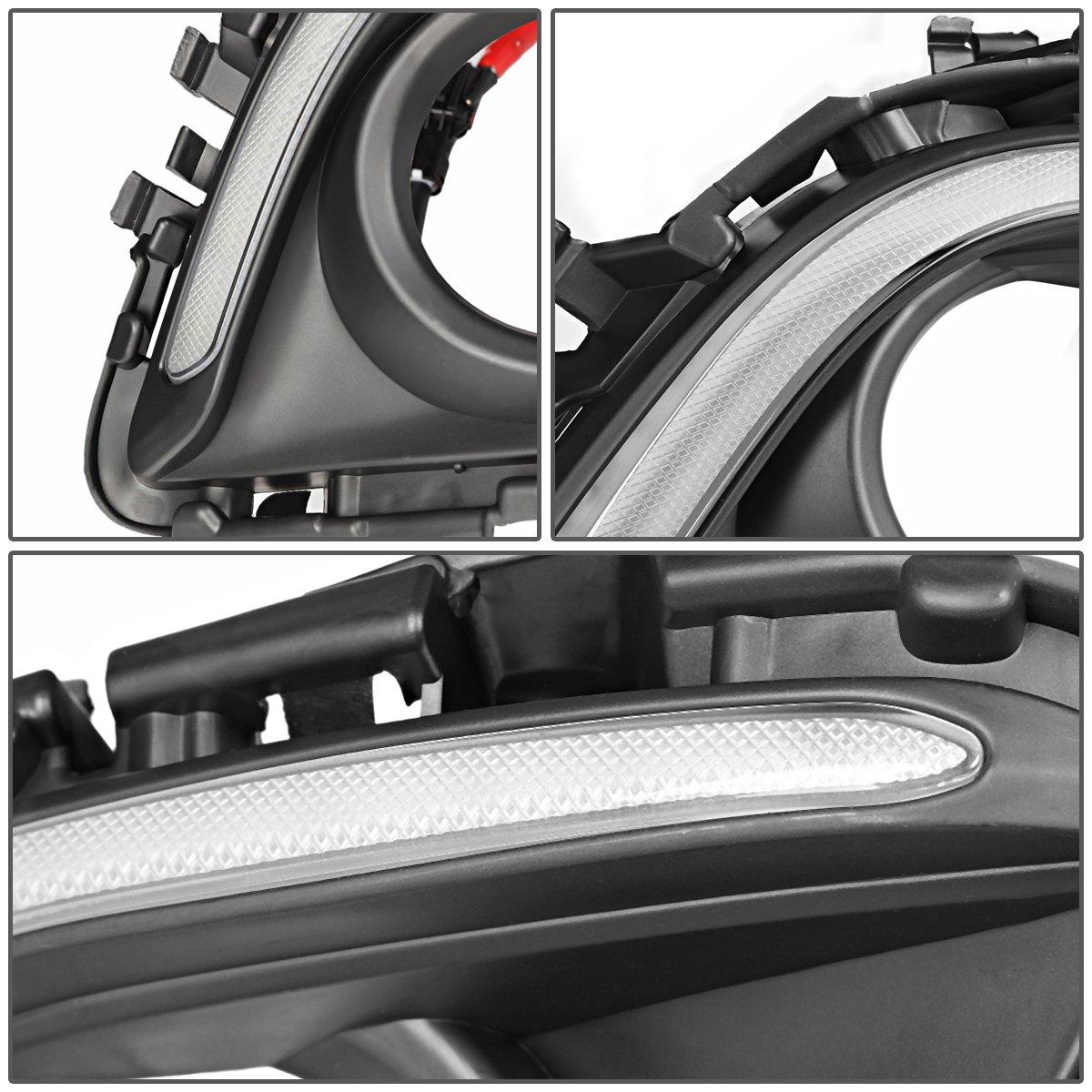 For 14-16 Mazda 6 DNA Motoring FL-ZTL-228-CH Chrome Trim Fog Light Bezel Cover