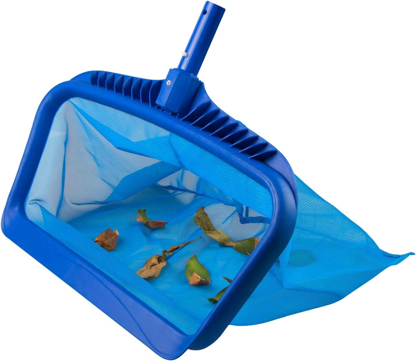 Angozo Pool Skimmer Net Heavy Duty Pool Leaf Rake for Cleaning Swimming Pool koi Pond and Fountain Fine Mesh Bag Catcher Cleaning Leaf Skim Net