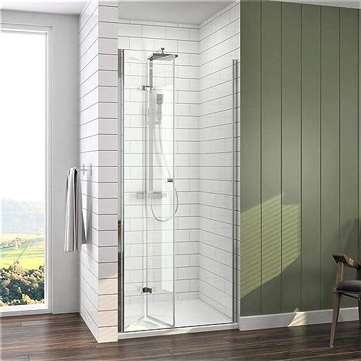 Duschkabine Falttür Duschwand Duschabtrennung Nischentür mit//ohne Duschtasse
