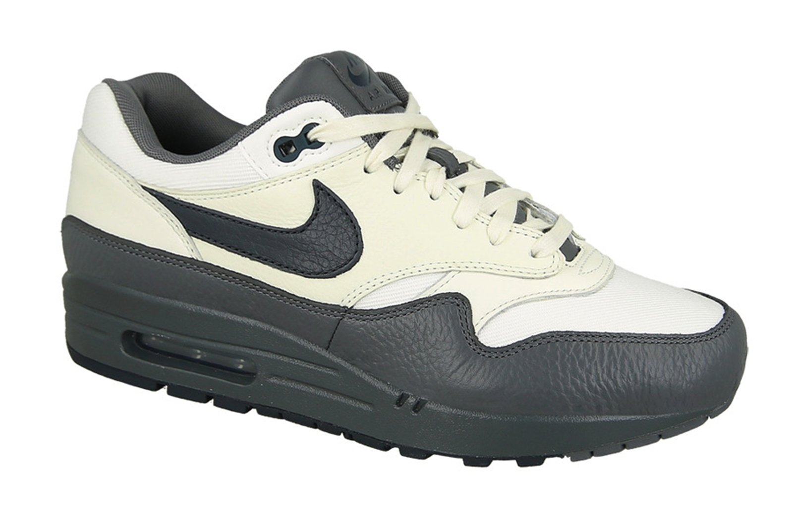 hot sale online 32f78 e2823 Galleon - NIKE Air Max 1 Premium Men s Running Shoes Sail Dark Obsidian-Dark  Grey 875844-100 (10 D(M) US)