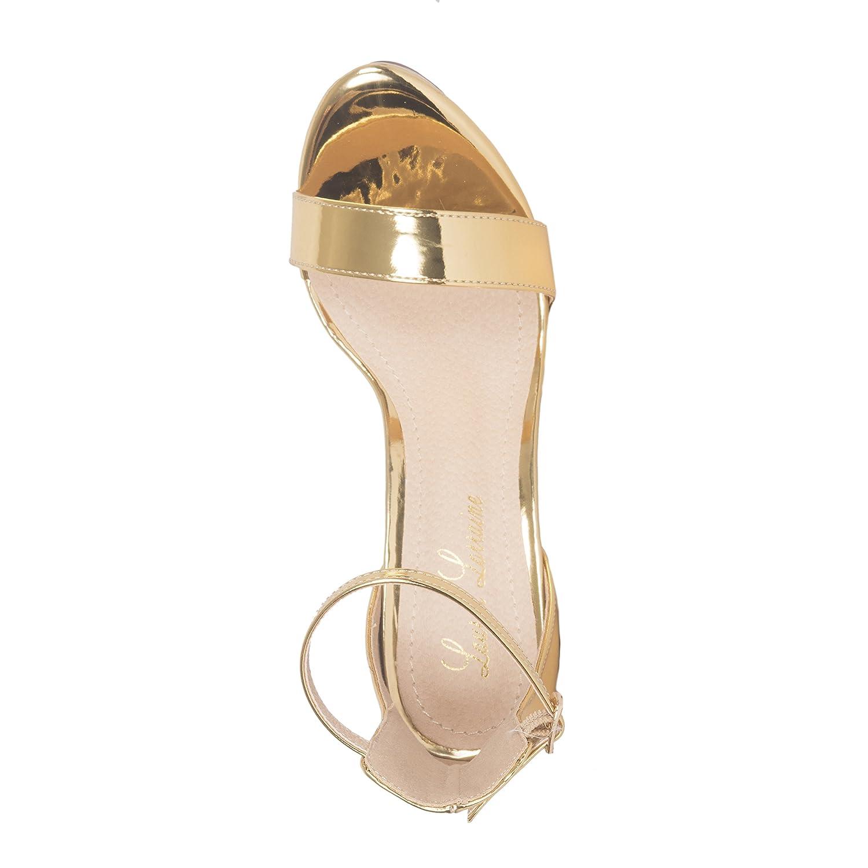 Lauren Lorraine Silver Darlene Platform Special Occasion Sandal B07C2FSQ7C 8.5 B(M) US|Gold