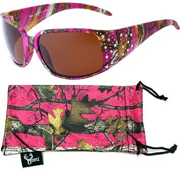 Hornz Rosa Camouflage polarisierten Sonnenbrillen Country Girl Style Camo & freie passende Beutel aus Mikrofaser dnJRLW