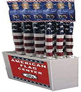 product image for Flagzone 032033 12 Piece 5' USA Flag with Wooden Pole Display