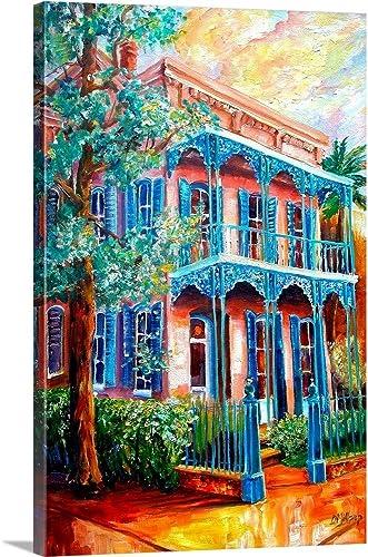 New Orleans Garden District Canvas Wall Art Print