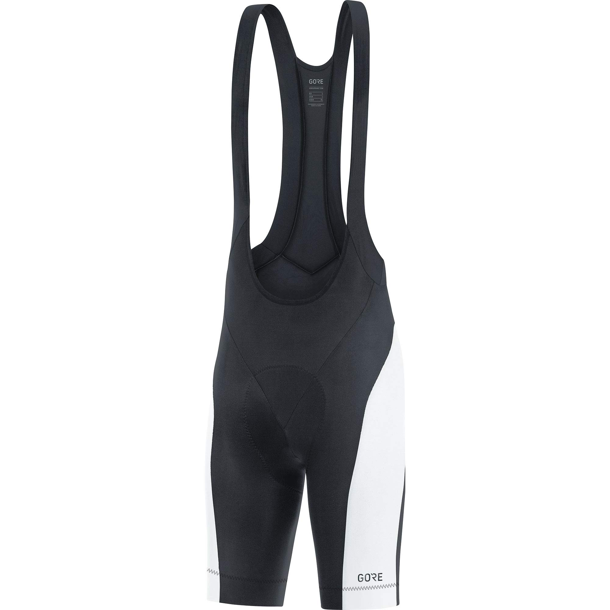 GORE WEAR C3 Men's Cycling Bib Shorts with Seat Insert, Size: M, Color: Black/White