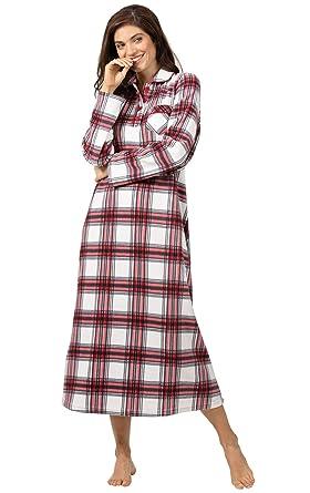 PajamaGram Women s Long Fleece Nightgown - Womens Christmas Nightgown at  Amazon Women s Clothing store  ac48bfee58