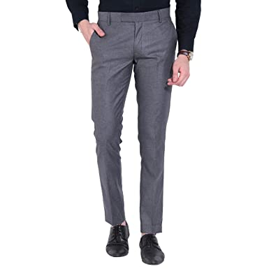 094a0ca1c8e Try This Men s Formal Trousers - Light Grey  Amazon.in  Clothing    Accessories