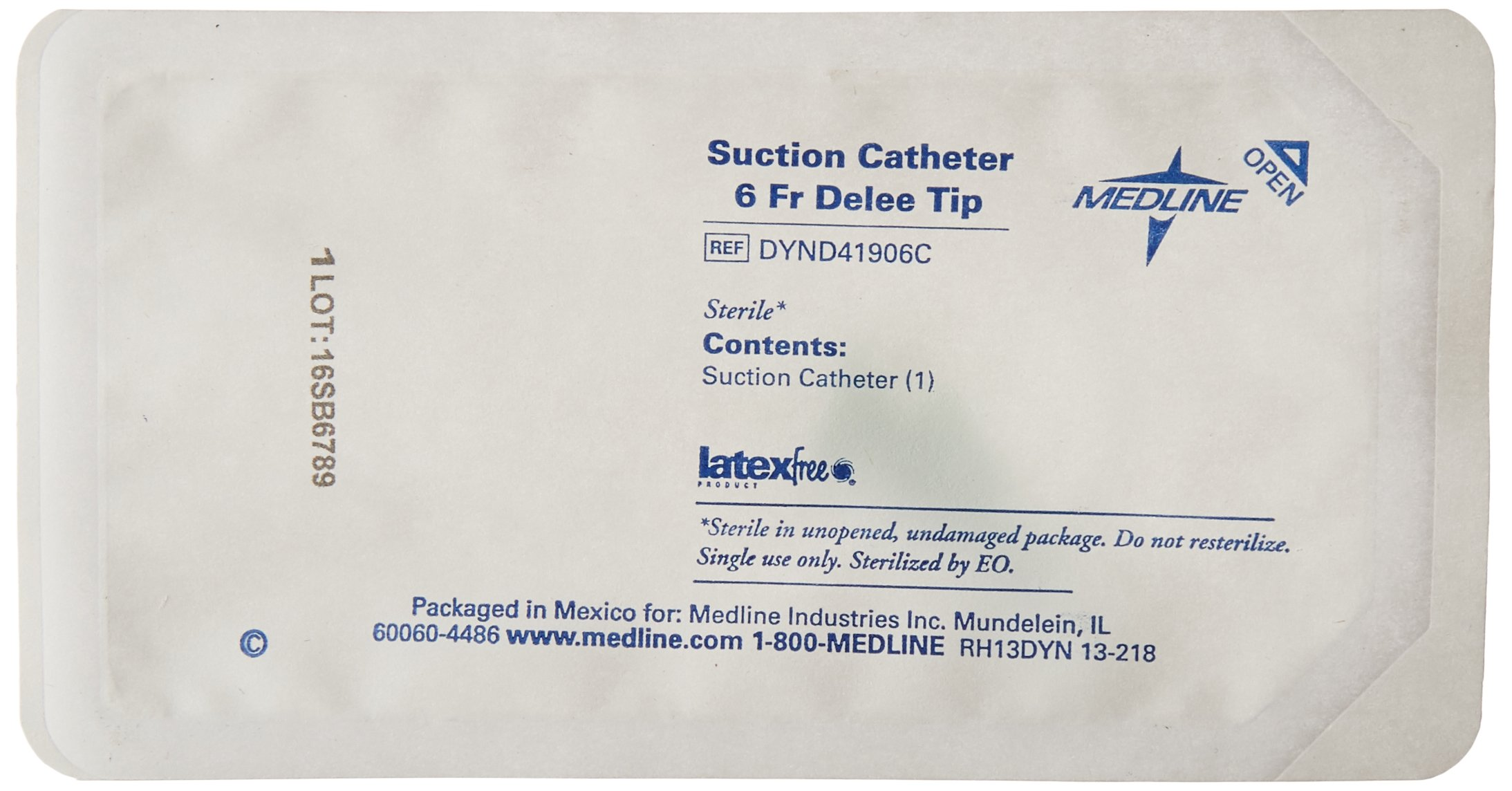 Medline Industries DYND41906C Open Suction Catheter Straight Packs, Delee Tip, 6FR (Pack of 50) by Medline