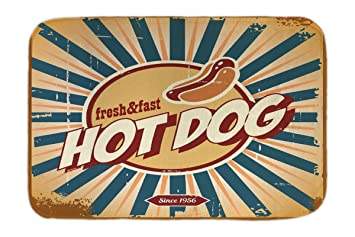 Leotie GmbH Cama Perro Diversiã³n Nostálgica Hot Dog Impreso 40x60 cm: Amazon.es: Hogar