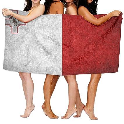 Toallas de baño de baño hojas, de bandera de Malta Playa mano turco toalla,