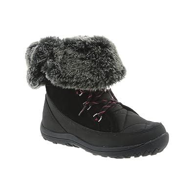 BEARPAW Women's Whitney Boots, Black Suede, Nylon, Rubber, ...