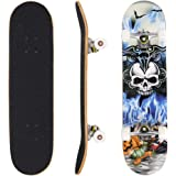 Ancheer Skateboard ,Mode PRO Druckholzplatte + PU-Rollen komplette Deck Skateboard,Deck Größe: 78,5 x 19,5 x 9,5 cm,Belastung:100kg