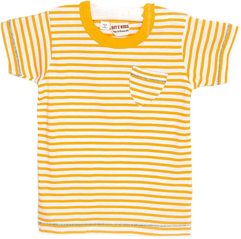 BITZ KIDS Little Boys Stripe Pocket T-Shirt