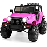 Best Choice Products Kids 12V Ride On Truck, Battery Powered Toy Car w/ Spring Suspension, Remote Control, 3 Speeds, LED Ligh