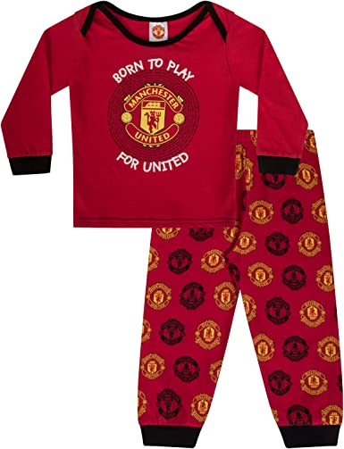 Manchester United FC Official Gift Boys Devil Toddler Kids Pajamas 2-3 Years