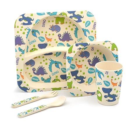 Children\u0027s 5 Piece Bamboo Dinner set. Kids Plate Bowl Cup Fork \u0026  sc 1 st  Amazon UK & Children\u0027s 5 Piece Bamboo Dinner set. Kids Plate Bowl Cup Fork ...