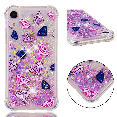 coque iphone xr transparente paillettes