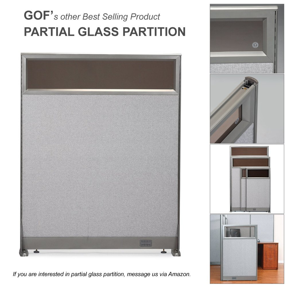GOF Office Partition Custom Built Workstation Wall Office Divider (36w X 72h) by GOF (Image #7)