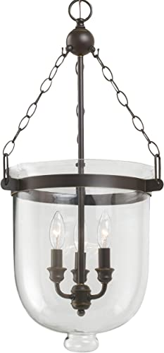 Sea Gull Lighting 65047-715 Westminster Three-Light Pendant Hanging Modern Fixture, Autumn Bronze Finish