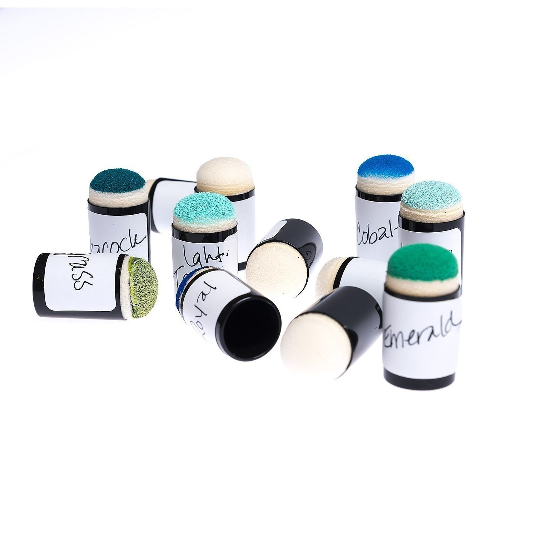 Meetory 10 St/ück Handwerk Finger Schwamm Dauber f/ür Malerei Tinte Handwerk Kreide Card Making