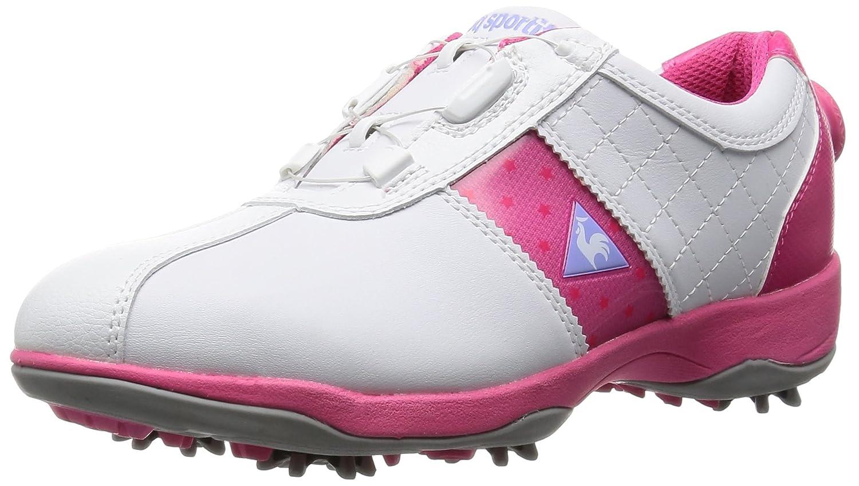 [ルコックスポルティフ] ゴルフコレクション ゴルフシューズ レディース QQL0583 23.5 3E ホワイト/ピンク B0185DL4BC