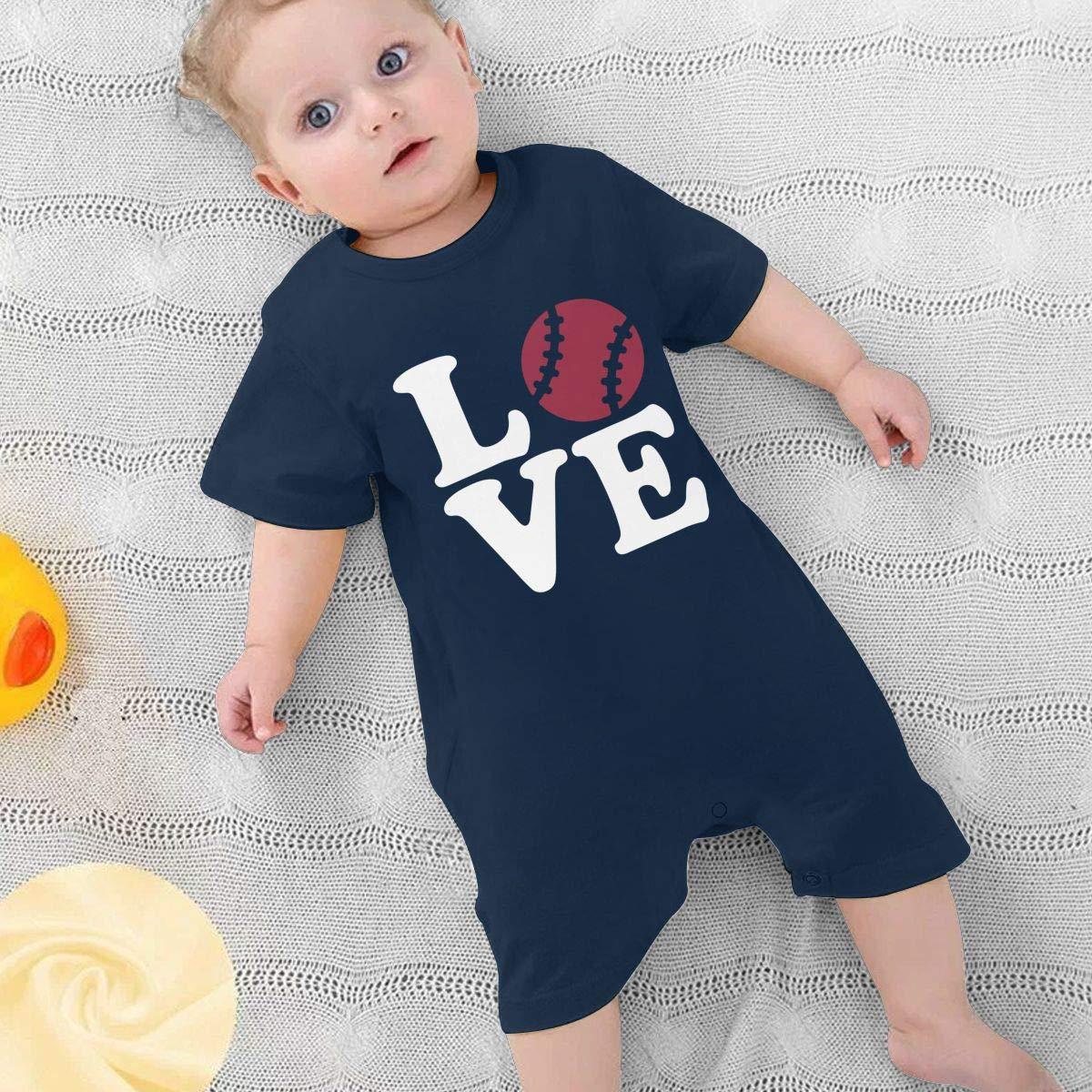 Love American Football Baby Girl Short Sleeve Romper Jumpsuit Baby Rompers 0-24 Months