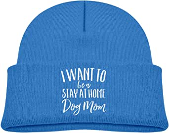 ADGoods Kids Children I Want to Be A Stay at Home Dog Mom Beanie Hat Knitted Beanie Knit Beanie For Boys Girls Gorra de béisbol para niños