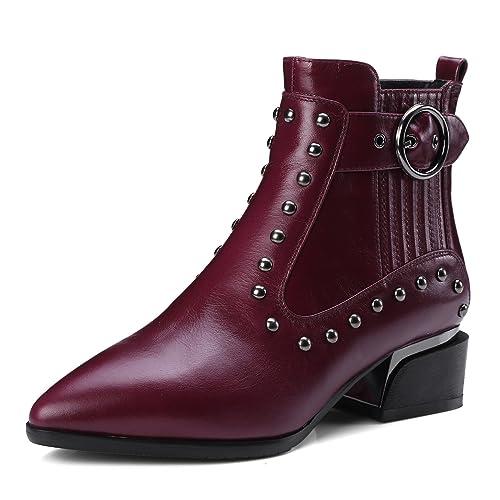 1102 Mujer Zapatos Amazon Anmengxinling185 Zhichitianya Punk Bq1tdT