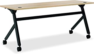 product image for HON Assemble Flip Base Multi-Purpose Table, 72-Inch, Wheat/Black (HBMP7224P)