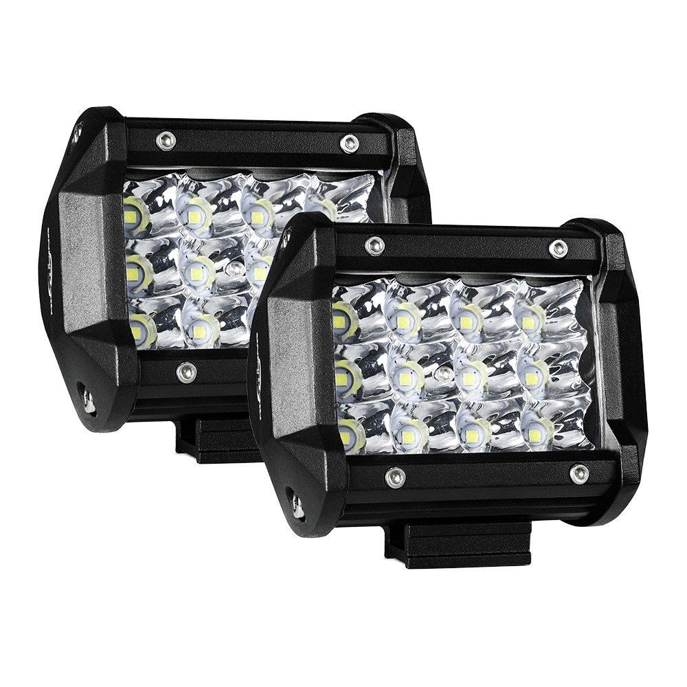 2pcs 4 Inch 36W LED Light Pods Spot Work Lights 3240lm Off Road Driving Fog Lights MICTUNING LED Light Bar