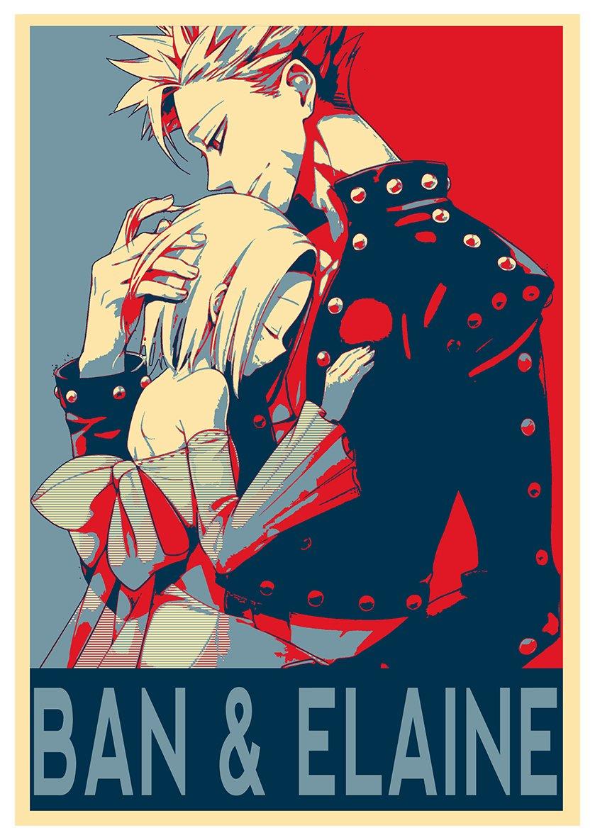 42x30 cm Formato A3 Poster Seven Deadly Sins Propaganda Ban ed Elaine