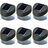 6 Pack Fence Solar Lights Weather Proof White Garden Outdoor