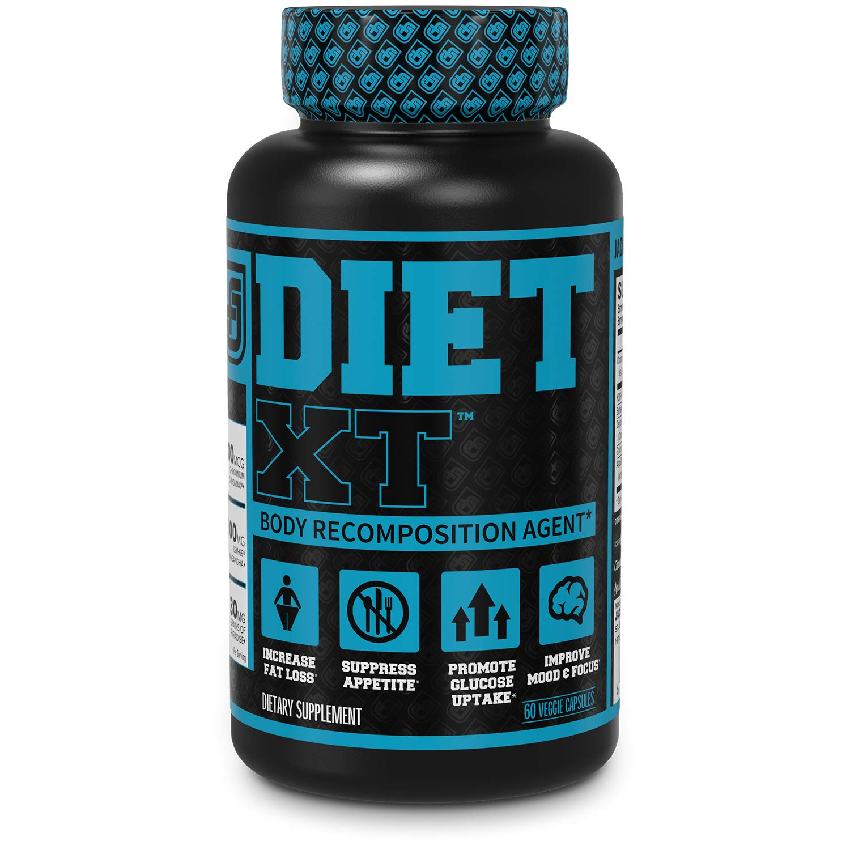 Diet XT Fat Burner & Weight Loss Supplement - Caffeine Free Body Recomposition Agent - Glucose Control & Mood Support w/KSM-66 Ashwagandha, Berberine, Chromax & More - 60 Keto Friendly Veg Diet Pills